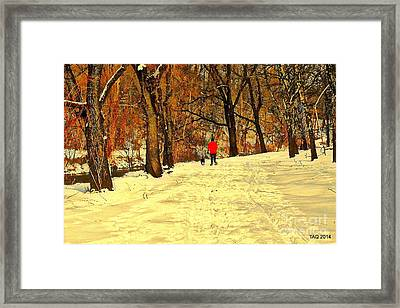 Solitude With A Friend Framed Print by Tami Quigley