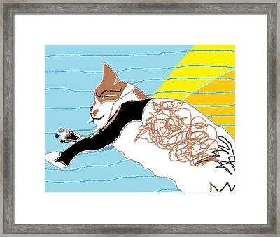 Solo Blue Blanket Framed Print