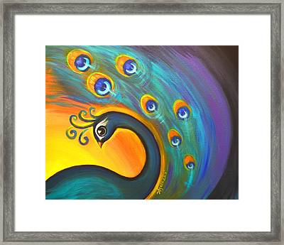 Framed Print featuring the painting Solo Dance Vortex by Agata Lindquist
