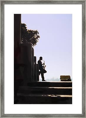 Solo Sax Framed Print