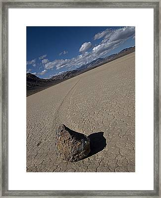 Framed Print featuring the photograph Solo Slider by Joe Schofield