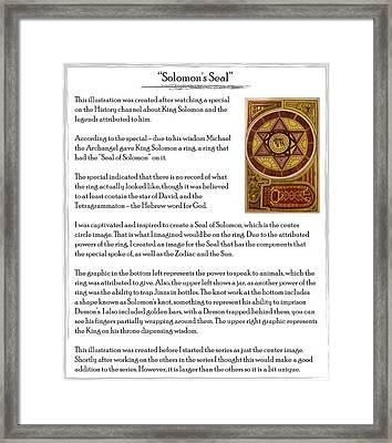 Soloman's Seal Story Framed Print