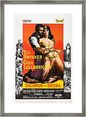 Solomon And Sheba, Us Poster, Yul Framed Print
