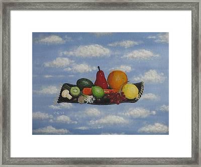 Solomon's Flying Feast Framed Print by Christina Glaser