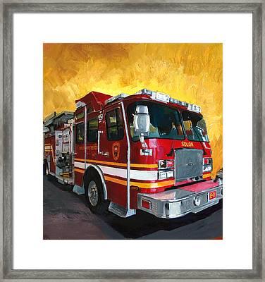 Solon Fire Engine Framed Print