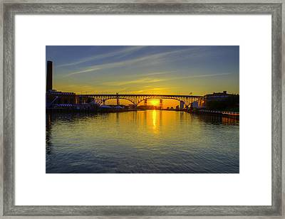 Solstice On The Cuyahoga River Framed Print