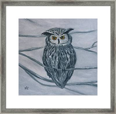 Solstice Owl Framed Print by Victoria Lakes