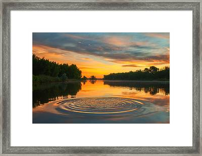 Solstice Ripples Framed Print