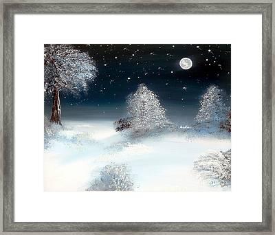 Solstice Snowfall I Framed Print by Alys Caviness-Gober