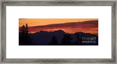 Solstice Sunset II Framed Print