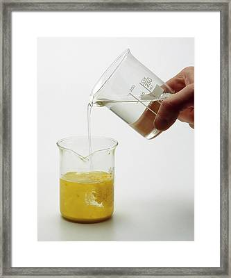 Solutions Of Potassium And Iodide Water Framed Print
