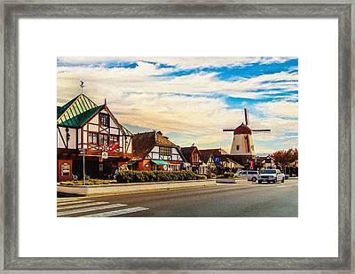 Solvang California Framed Print by Bob and Nadine Johnston