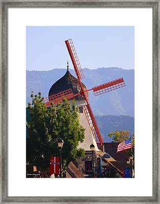 Solvang Windmill Framed Print by Ivete Basso Photography