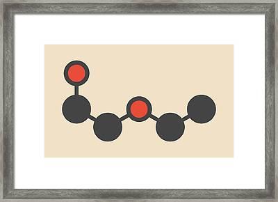 Solvent Molecule Framed Print by Molekuul