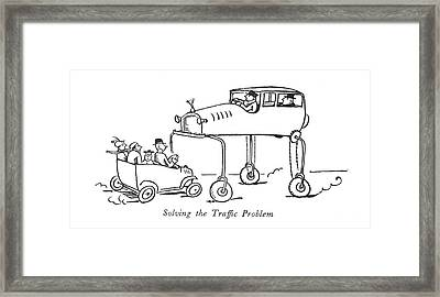 Solving The Traf?c Problem Framed Print by Alfred Frueh