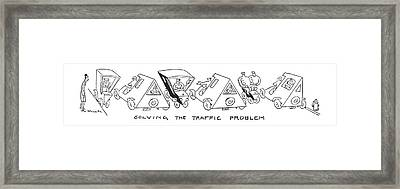 Solving The Traffic Problem Framed Print by Alfred Frueh