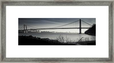 Somber Gwb Framed Print by Chris Halford