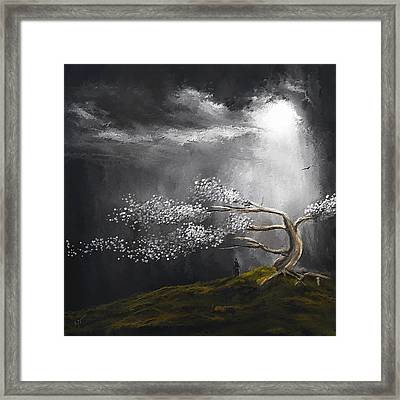 Somber Reflection Framed Print