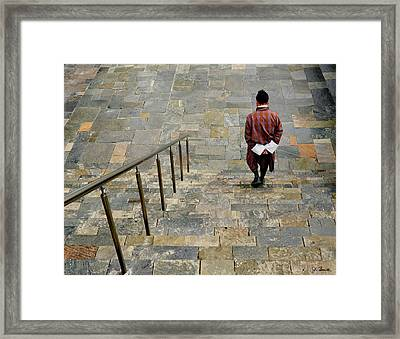 Somber Solitude Framed Print