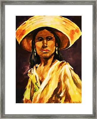 Sombrero Ll Framed Print by Al Brown