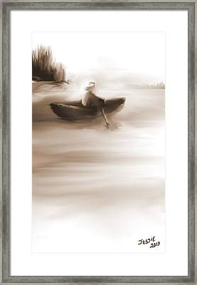 Some Alone Time Framed Print by Jessica Wright