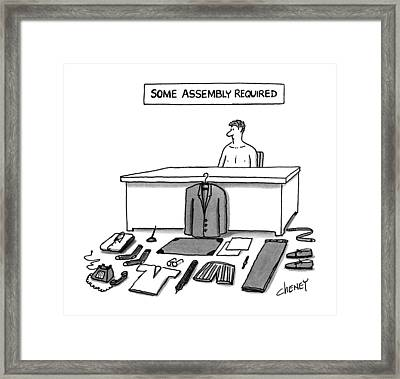 Some Assembly Required Framed Print by Tom Cheney