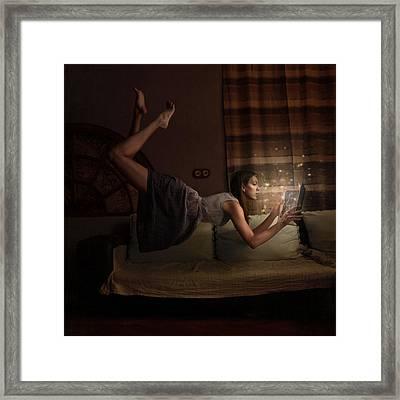 Some Books Can Fly You Away Framed Print by Anka Zhuravleva