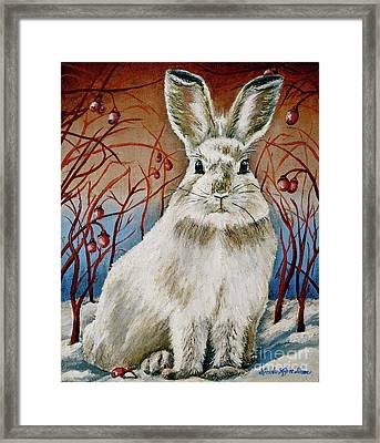 Some Bunny Is Charming Framed Print by Linda Simon