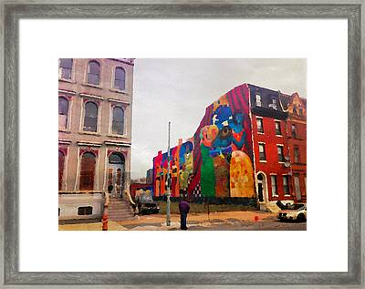 Some Color In Philly Framed Print