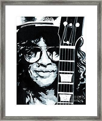 Some Cool Guitar Player- Slash Framed Print by Tanya Filichkin