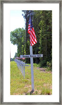 Framed Print featuring the photograph Some Gave All by Gordon Elwell