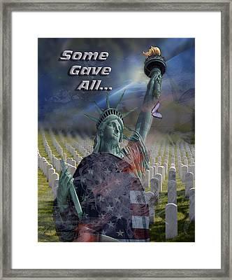 Some Gave All... Framed Print by Jayne Gohr