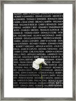 Some Gave All - Vietnam Veterans Memorial Framed Print