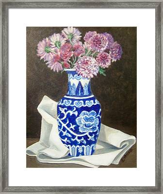 Framed Print featuring the painting Some Mums by Laura Aceto