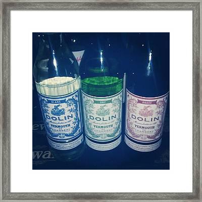 Speakeasy Vermouth Framed Print