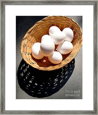 Some Of Our Eggs Framed Print by Jim Rossol