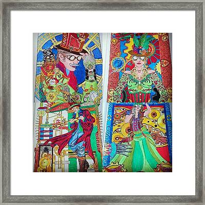 Some Pages From Daddy's Colouring Book Framed Print