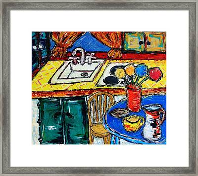 Somebody Else''s Kitchen Framed Print
