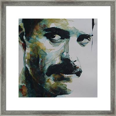 Freddie Mercury Framed Print by Paul Lovering