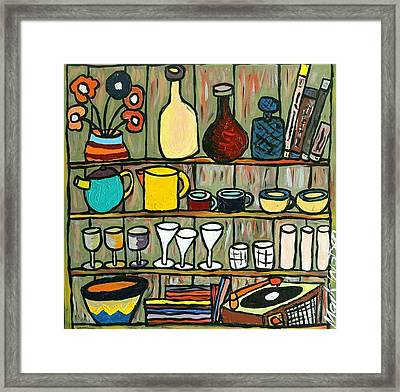 Somebody's Shelf Framed Print