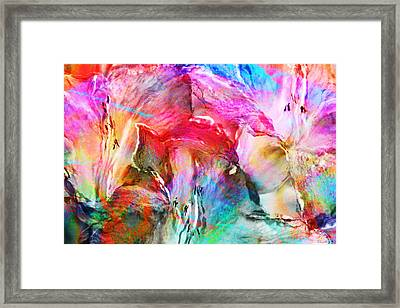 Somebody's Smiling - Abstract Art Framed Print by Jaison Cianelli