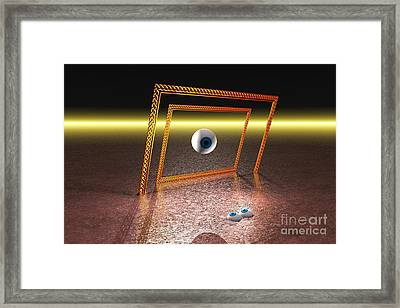 Framed Print featuring the digital art Somebody's Watching Me by Jacqueline Lloyd