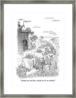 Someday Man Will Find A Peaceful Use Framed Print by Bill Woodman