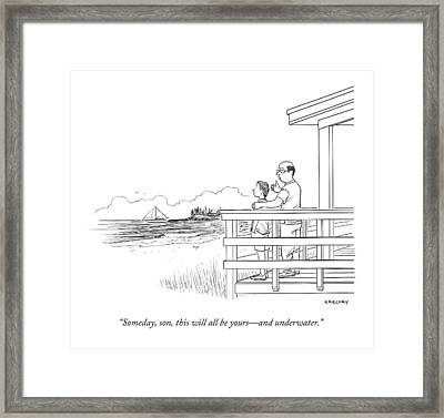 Someday, Son, This Will All Be Yours - Framed Print by Alex Gregory