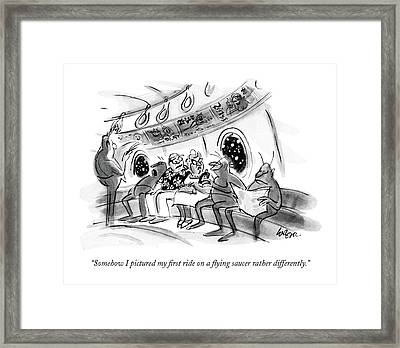 Somehow I Pictured My First Ride On A Flying Framed Print by Lee Lorenz