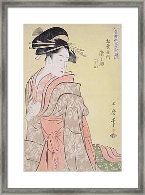 Somenosuke Of Matsubaya Framed Print by Kitagawa Utamaro