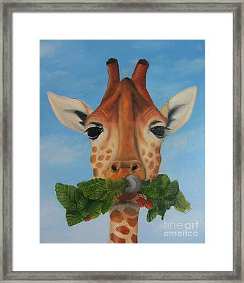 Someone Is Eating My Garden Framed Print by Pam Fries