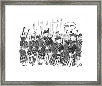 Someone Shouting Freebird At A St. Patrick's Day Framed Print