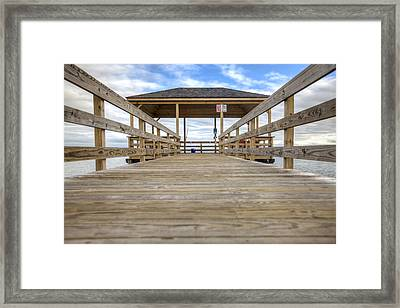 Somers Point Pier Framed Print by Al Hurley