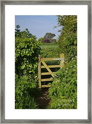 Somerset Countryside Gate Uk Framed Print by Rene Triay Photography